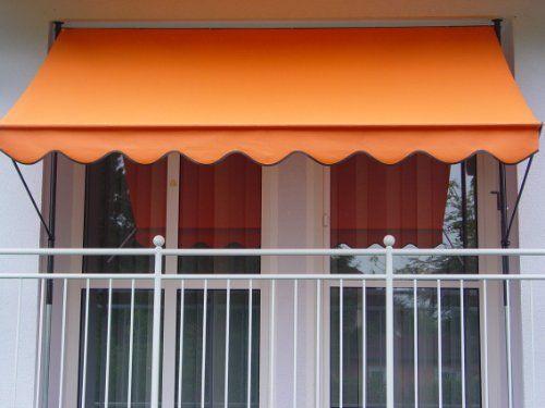 Angerer-Klemmmarkise-PE-Gewebe-Uni-Orange-0