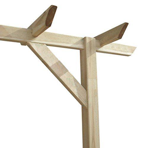 Anself Gartenpergola Anlehn Pergola aus Holz mit drei Pfählen 400 x ...