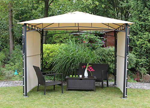 Miadomodo Garten Pavillon in Beige Partyzelt aus Stahl in der Größe ...