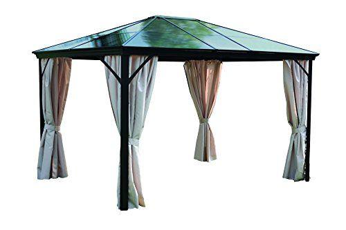 Leco-4713910103-Profi-Pavillon-365-x-300-x-260-cm-grau-braun-0