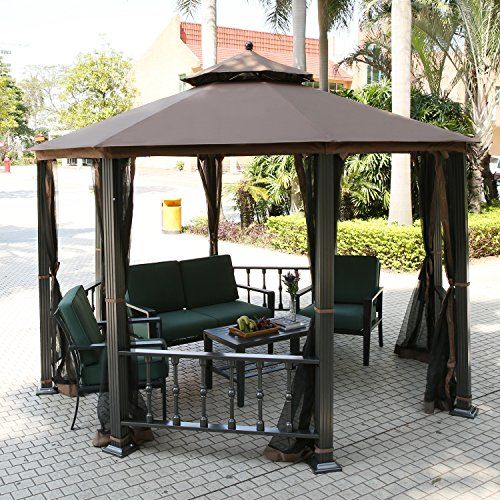 teamyy aluminium garten pavillon gazebo berdachung pavillion partyzelt terrasse m bel ihre. Black Bedroom Furniture Sets. Home Design Ideas