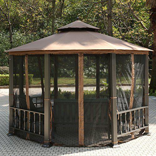 teamyy aluminium garten pavillon gazebo berdachung pavillion partyzelt terrasse m bel ihre. Black Bedroom Furniture Sets. Home Design Ideas