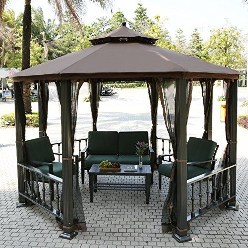 teamyy aluminium garten pavillon gazebo berdachung. Black Bedroom Furniture Sets. Home Design Ideas